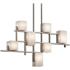 Elstead Kichler KL/CITYLIGHTS7B City Lights 7 Light Ceiling Pendant Pewter