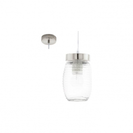 Eglo 94669 Varmo 1 Light Ceiling Pendant Matt Nickel