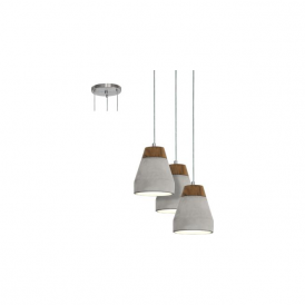 Eglo 95526 Tarega 3 Light Ceiling Pendant Grey