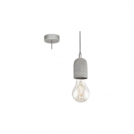 Eglo 95522 Silvares 1 Light Ceiling Light Grey
