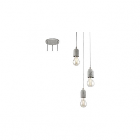 Eglo 95523 Silvares 3 Light Ceiling Light Grey