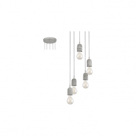 Eglo 95524 Silvares 5 Light Ceiling Light Grey