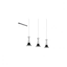 Eglo Musero 93796 3 Light Ceiling Pendant Nero Nickel