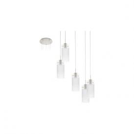 Eglo 94456 Melegro 5 Light Ceiling Pendant Satin Nickel