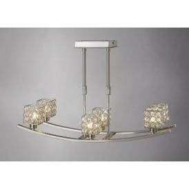 IL20642 Elsa 6 Light Ceiling Light Satin Nickel