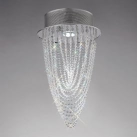 IL31390 Camilla 1 Light Crystal Ceiling Light Polished Chrome