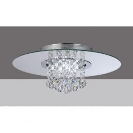 IL31007 Starda Round 8 Light Crystal Semi-flush Ceiling Light Polished Chrome