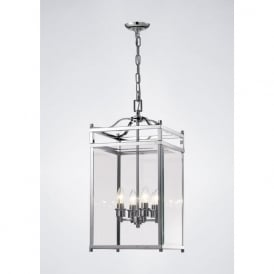 IL31103 Aston 4 Light Lantern Pendant Polished Chrome