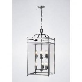 IL31104 Aston 6 Light Lantern Pendant Polished Chrome