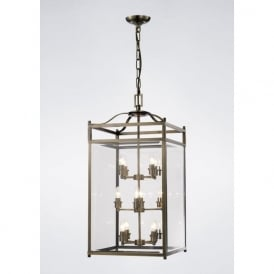 IL31115 Aston 12 Light Lantern Pendant Polished Chrome