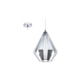 Eglo 95532 Taroca 1 Light Ceiling Light Chrome