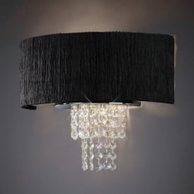 IL30271/BL Nerissa 2 Light Wall Light with Black Shade