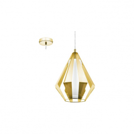 Eglo 95533 Taroca 1 Light Ceiling Light Brass