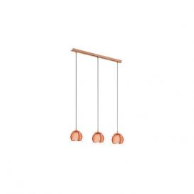 Eglo 94591 Rocamar 3 Light Ceiling Light Copper