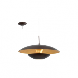 Eglo 95755 Nuvano 1 Light Ceiling Light Brown/Gold