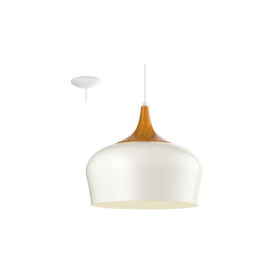 Eglo 95383 Obregon 1 Light Ceiling Pendant Cream