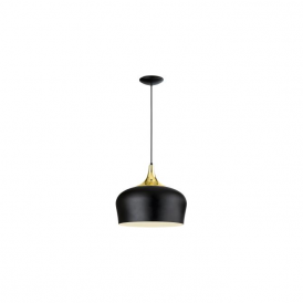 Eglo 95382 Obregon 1 Light Ceiling Pendant Brass/Black