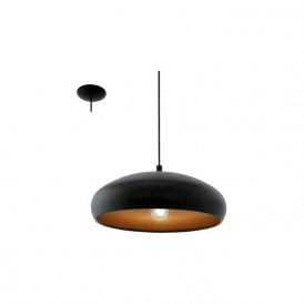 Eglo 94605 Mogano 1 1 Light Ceiling Pendant Black/Copper