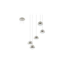 Eglo 94301 Lombes 5 Light Ceiling Pendant Satin Nickel