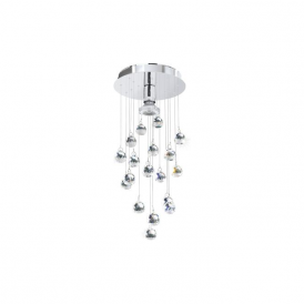 Eglo 95834 Luxy LED 1 Light Ceiling Pendant Polished Chrome
