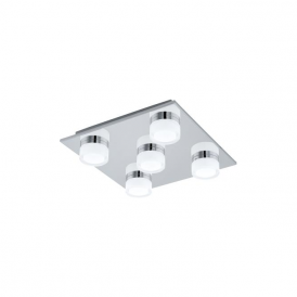 Eglo 94654 Romendo 5 Light Flushed Ceiling Light Polished Chrome IP44