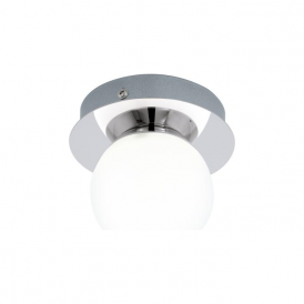 Eglo 94626 Mosiano 1 Light Flushed Ceiling Light Polished Chrome IP44