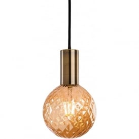FirstLight 4931 Hudson Pendant Antique Brass with Decorative LED Lamp