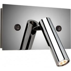 FirstLight 4896PST Kent 2 Light Wall Light Polished Stainless Steel