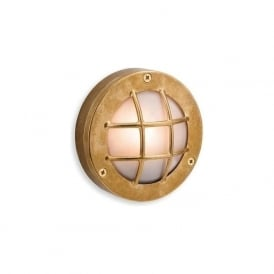 FirstLight 5925BR Nautic Wall Light Brass with Frosted Glass IP64