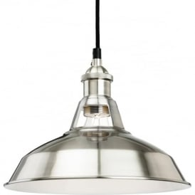 FirstLight 4867BS Albany Pendant Light Brushed Steel
