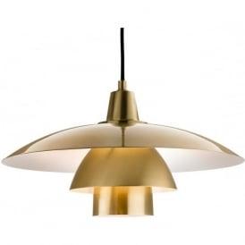 FirstLight 4853BB Olsen Pendant Light Brushed Brass