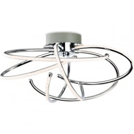 Firstlight 4851CH Caprice LED Flush Ceiling Light Polished Chrome