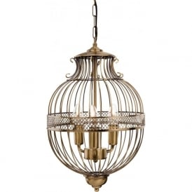FirstLight 4855AB Stanford 3 Light Pendant Light Antique Brass