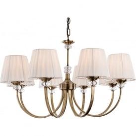 FirstLight 4864AB Langham 8 Light Ceiling Light Antique Brass