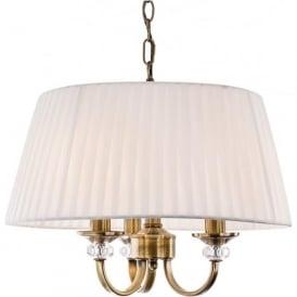 FirstLight 4865AB Langham 3 Light Ceiling Light Antique Brass