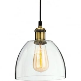 Firstlight 4876AB Empire 1 Light Pendant Antique Brass