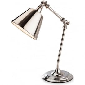 Firstlight 4890BC Clarion Table Lamp Brushed Chrome