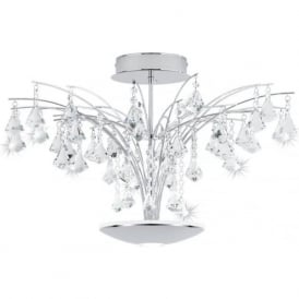 Eglo 39031 Miramas 16 light Ceiling Light Polished Chrome