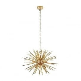 Endon 70575 Orta 9 Light Ceiling Pendant Brushed Gold