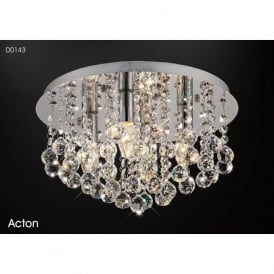 Diyas D0143 Acton 4 Light Ceiling Light Polished Chrome