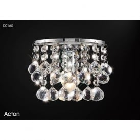 Diyas D0160 Acton 1 Light Wall Light Polished Chrome