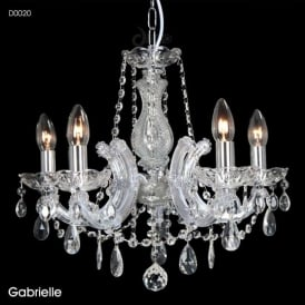 Diyas D0020 Gabrielle 5 Light Ceiling Light Polished Chrome