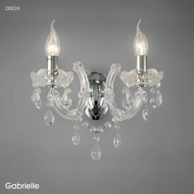 Diyas D0024 Gabrielle 2 Light Wall Light Polished Chrome