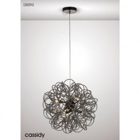 Diyas D0093 Cassidy 6 Light Ceiling Pendant Black Chrome