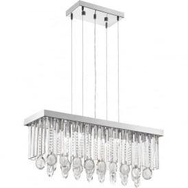 Eglo 93422 Calaonda 7 Light Ceiling Pendant Steel and Chrome