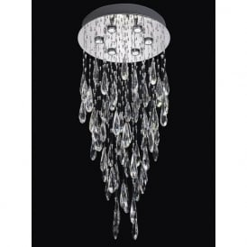 Franklite FL2320/6 Shimmer 6 Light Ceiling Light Chrome