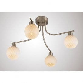 Diyas D0067 Carmen 4 Light Ceiling Light Satin Nickel