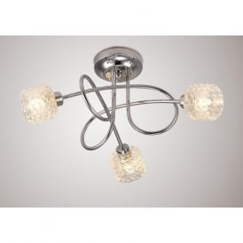 Diyas D0068 Jada 3 Light Ceiling Light Polished Chrome