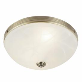 Searchlight 5772-2AB Windsor 2 Light Flush Ceiling Light Antique Brass