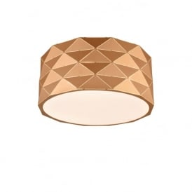 Franklite CF5769 Tangent 4 Light Ceiling Light Rose Gold